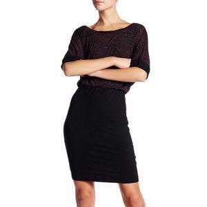 Splendid Speckle Melange Blouson Dress Size Medium